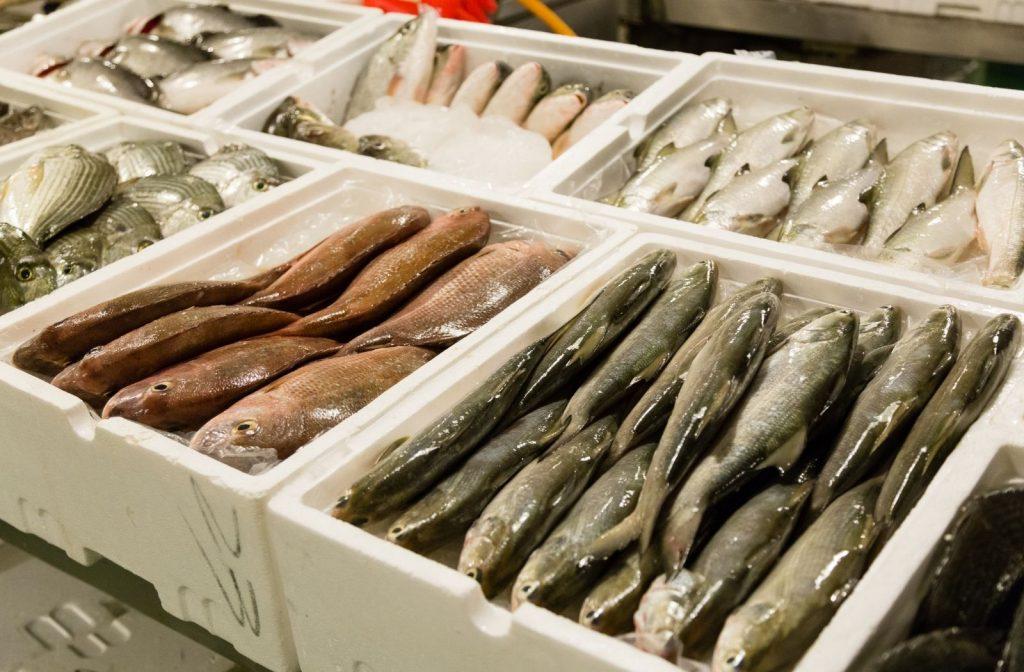 Pesce in una pescheria
